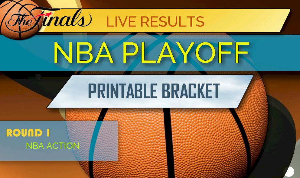 graphic about Nba Printable Bracket identify NBA Playoff Bracket Printable 2018: NBA Playoff Agenda Mounted