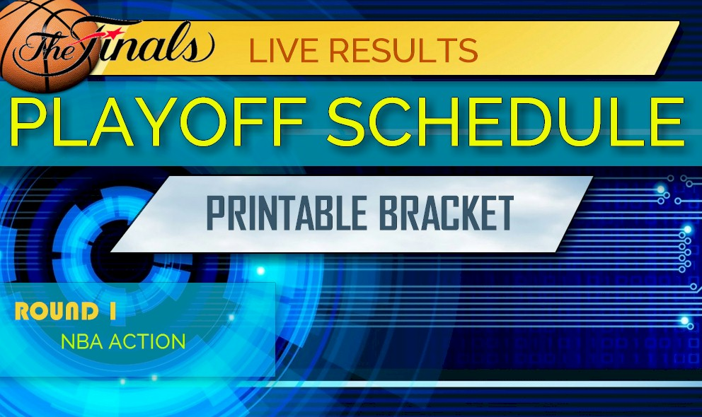 image about Nba Printable Bracket known as NBA Playoff Bracket Printable 2018: NBA Playoff Agenda