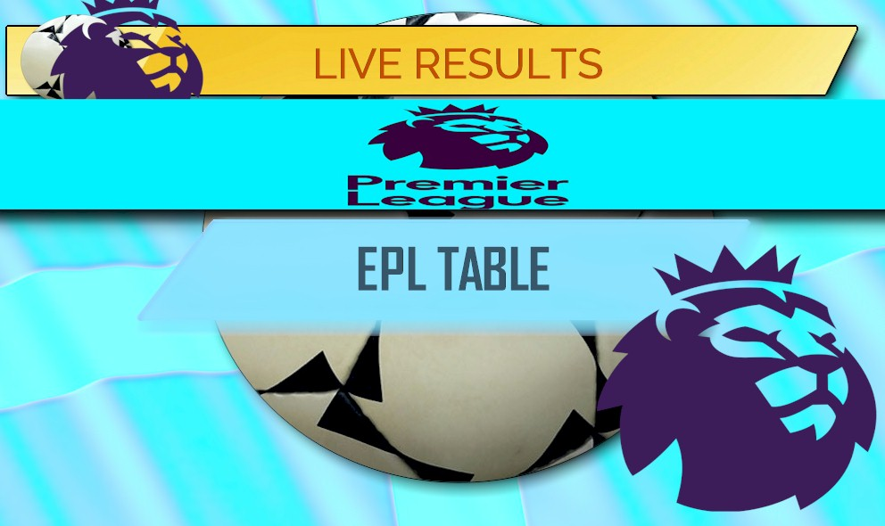Lalate celebrity entertainment news soccer football for Epl live scores and table standing