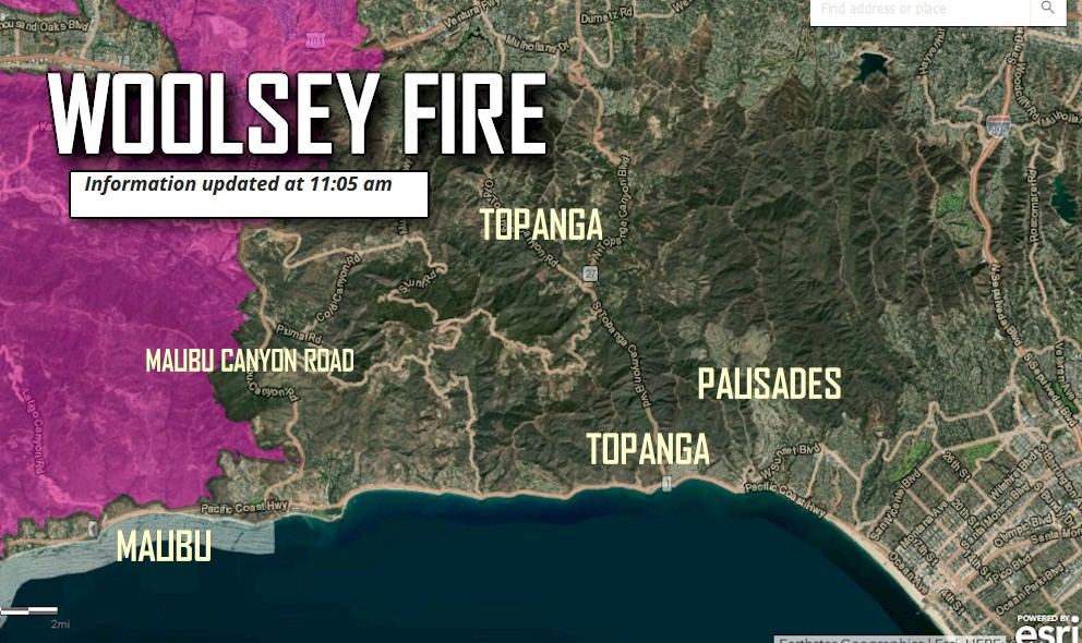 Woolsey Fire Map Damage Woolsey Fire Evacuation Orders Update