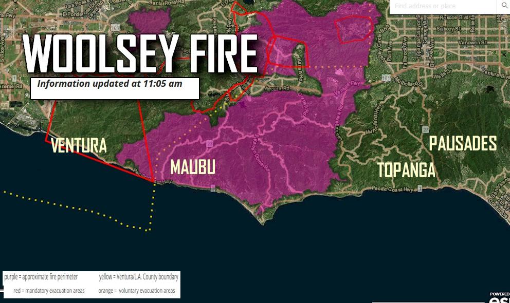 Topanga Canyon Fire Evacuation Pacific Palisades Stays Focused