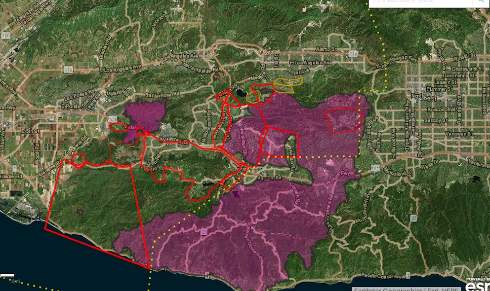 Woolsey Fire Map Update: Malibu Fire Nears Palisades, Brentwood