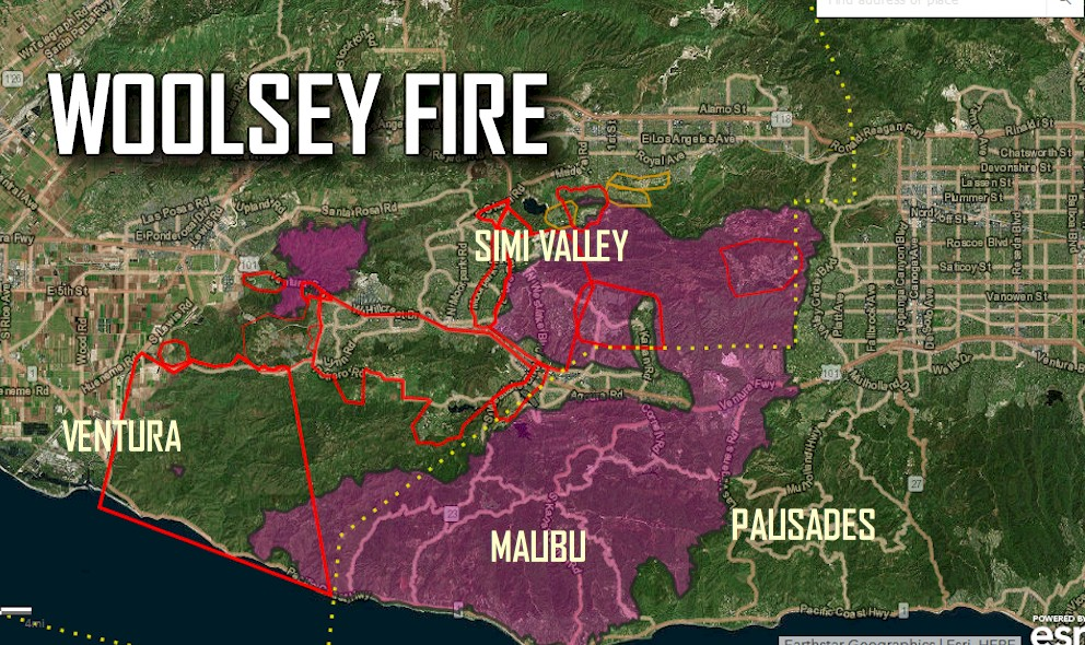 California Wildfires Map: Malibu Fire Keeps PCH Closed on rand mcnally map of california, political map of california, topo map of california, geological map of california, printable map of california,