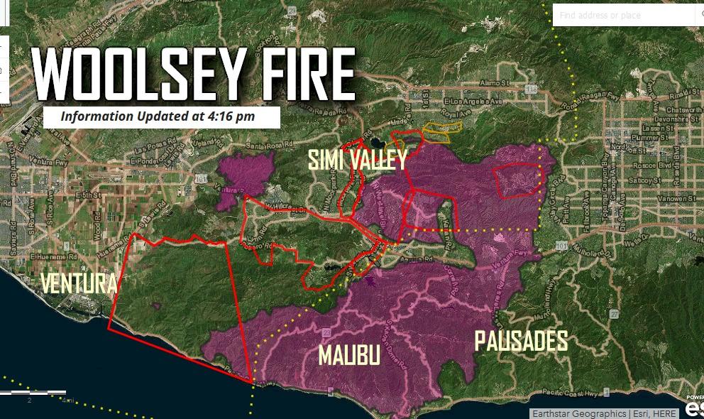 Malibu Fire Map Update: Topanga Canyon Fire Update Tonight
