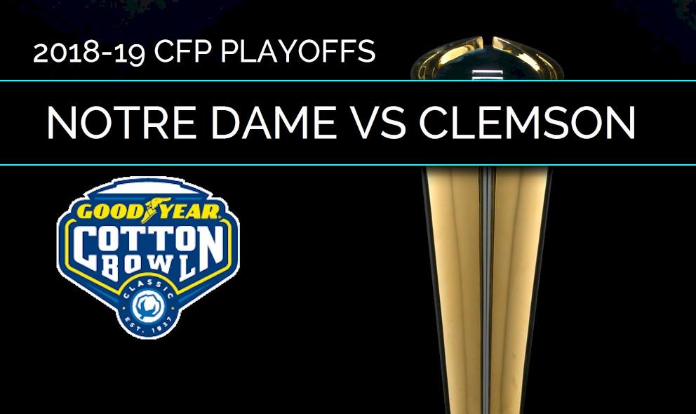 Notre Dame Vs Clemson Score College Football Playoff Cotton