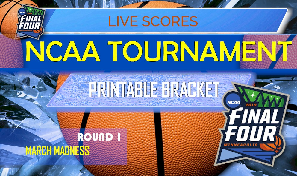 picture relating to Si Printable Bracket named 2019 NCAA Match Bracket Printable College or university Basketball