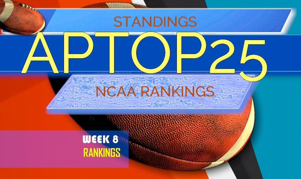 AP Top 25 Poll College Football Rankings Week 8 Standings ...