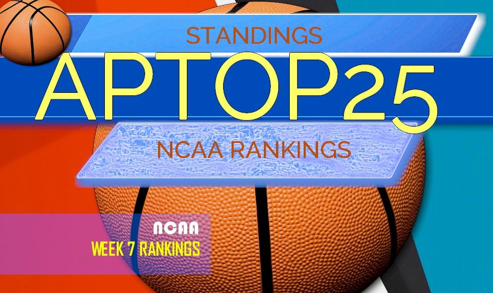 Ap Top 25 Poll College Basketball Rankings Week 7 Standings